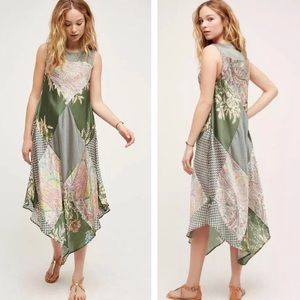 Anthropologie Tiny Trouvaille Patchwork Maxi Dress